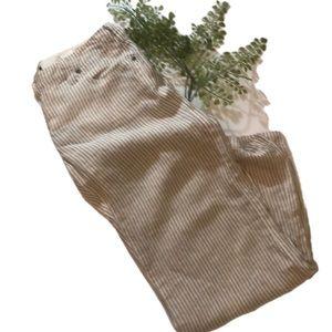 """ARMANI JEANS"" 100 % Linen PinStripe Ladies Pants."